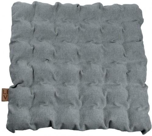 Sivomodrý vankúš na sedenie s masážnymi loptičkami Linda Vrňáková Bubbles, 55 × 55 cm