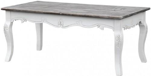 Biela jedálenská lavica z topoľového dreva s prírodnými detailmi Livin Hill Rimini