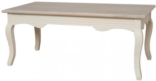 Krémovobiela lavica z topoľového dreva Livin Hill Pesaro