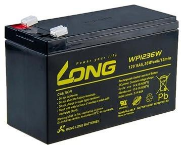 Long 12V 9Ah olověný akumulátor HighRate F2 (WP1236W)