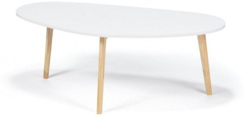 Biely konferenčný stolík loomi.design Skandinavian, dĺžka120cm