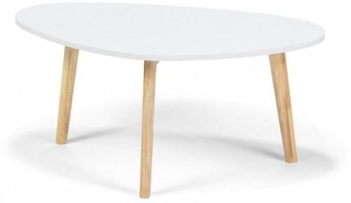 Biely konferenčný stolík loomi.design Skandinavian, dĺžka84,5cm