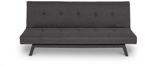 Tmavosivá rozkladacia pohovka so sivými nohami loomi.design Ozzie