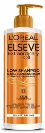 L´Oréal Paris Ošetrujúce umývacie krém na vlasy Elseve Extraordinary Oil (Low Shampoo Gentle Cleansing Cream) 400 ml