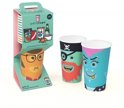 Sada 12 papierových pohárikov Luckies of London Party Luckies