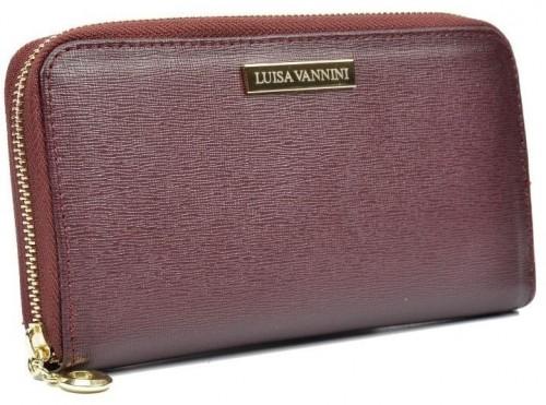 Vínová kožená peňaženka Luisa Vannini Lanza