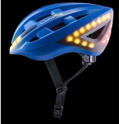 LUMOS SmartCykloPrilba - 54-62cm, integrované smerové a brzdové svetlá, akumulátor- modrá LKHEBLB