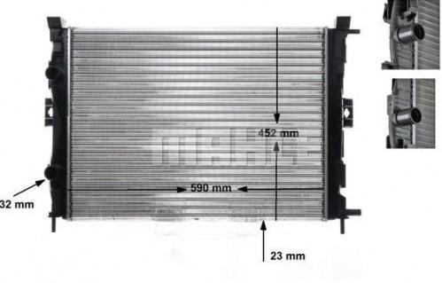 Chladič motora MAHLE CR 1690 000S CR 1690 000S