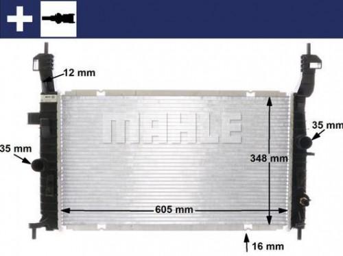 Chladič motora MAHLE CR 2120 000S CR 2120 000S