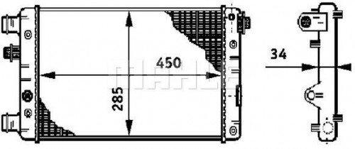 Chladič motora MAHLE CR 632 000S CR 632 000S