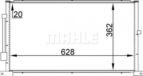 Kondenzátor klimatizácie MAHLE AC 258 000S AC 258 000S