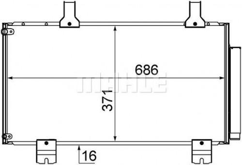 Kondenzátor klimatizácie MAHLE AC 610 000S AC 610 000S