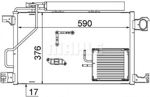 Kondenzátor klimatizácie MAHLE AC 661 000S AC 661 000S