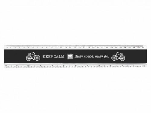 Čierne pravítko Makenotes Bike