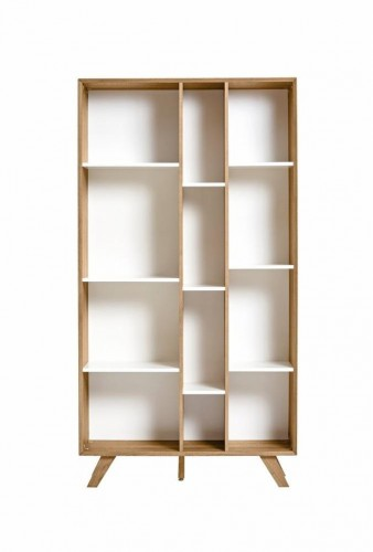 Knižnica s bielymi detailmi Marckeric Tivoli, 98 × 184 cm