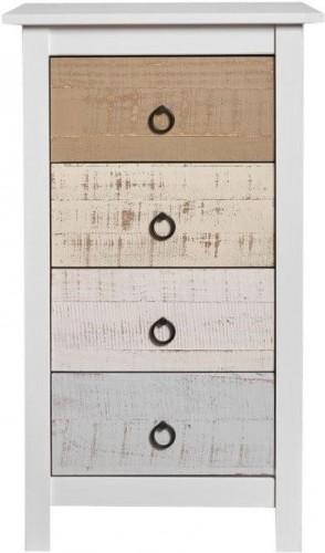 Komoda z masívneho borovicového dreva so 4 zásuvkami Marckeric Flora