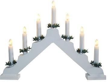 svícen vánoční el. 7 svíček, jehlan, dřev.BÍ, do zásuvky
