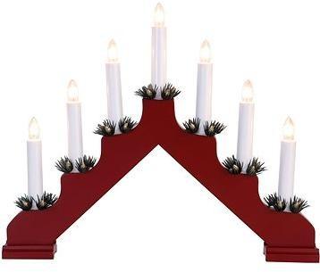svícen vánoční el. 7 svíček, jehlan, dřev.ČRV, do zásuvky