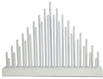 svícen vánoční el.33 svíček LED, dřev.BÍ, 40,2x30x5cm, do zásuvky