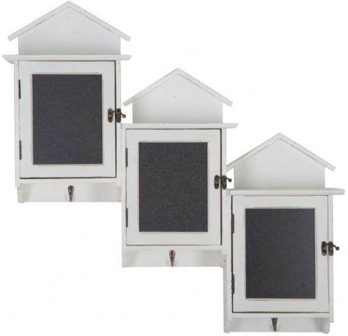 Sada 3 nástenných skriniek s tabuľovými dvierkami Mauro Ferretti Cabin