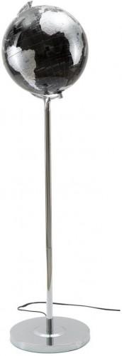 Stolová lampa v v čierno-striebornej farbe Mauro Ferretti Da Terra, výška 130 cm