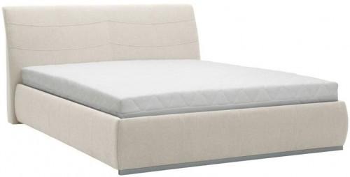 Béžová dvojlôžková posteľ Mazzini Beds Luna, 180×200cm