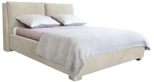 Béžová dvojlôžková posteľ Mazzini Beds Vicky, 180×200cm