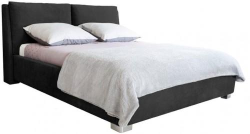 Čierna dvojlôžková posteľ Mazzini Beds Vicky, 160×200cm