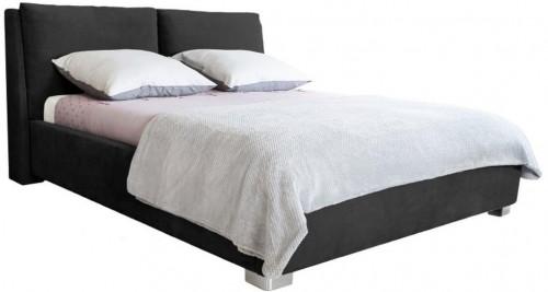 Čierna dvojlôžková posteľ Mazzini Beds Vicky, 180×200cm