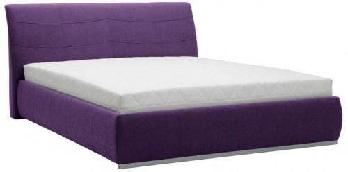 Fialová dvojlôžková posteľ Mazzini Beds Luna, 140×200cm
