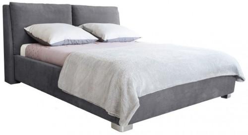 Sivá dvojlôžková posteľ Mazzini Beds Vicky, 160×200cm