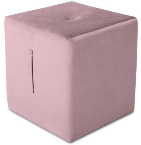 Ružový puf Mazzini Sofas Margaret, 40 × 45 cm