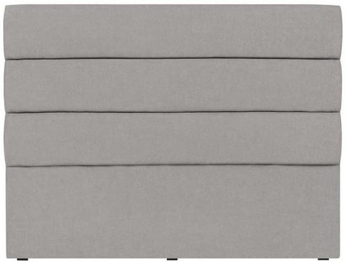 Svetlosivé čelo postele Mazzini Sofas Pesaro, 140×120cm