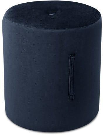 Tmavomodrý puf Mazzini Sofas Fiore, ⌀ 40 cm