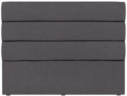 Tmavosivé čelo postele Mazzini Sofas Pesaro, 180×120cm