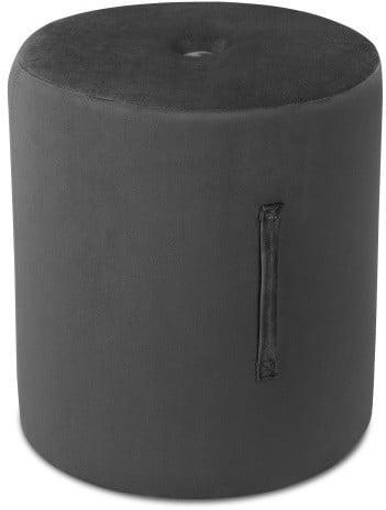 Tmavosivý puf Mazzini Sofas Fiore, ⌀ 40 cm