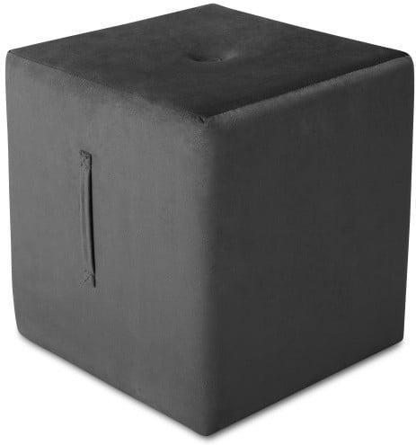 Tmavosivý puf Mazzini Sofas Margaret, 40 × 45 cm