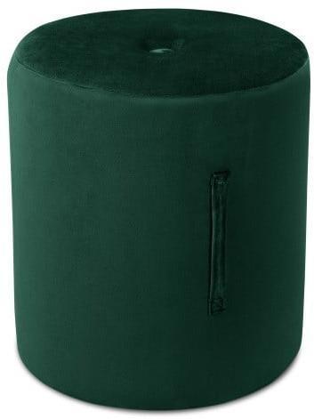 Zelený puf Mazzini Sofas Fiore, ⌀ 40 cm