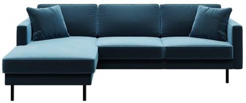 Modrá rohová pohovka MESONICA Kobo, ľavý roh
