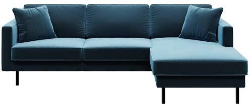 Modrá rohová pohovka MESONICA Kobo, pravý roh