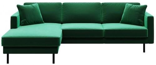 Zelená rohová pohovka MESONICA Kobo, ľavý roh