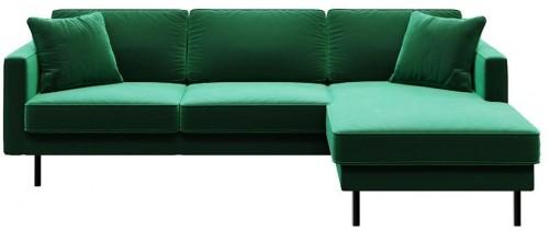 Zelená rohová pohovka MESONICA Kobo,pravý roh