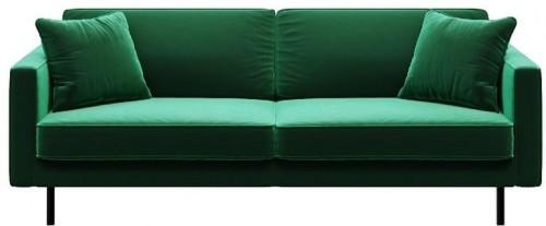 Zelená trojmiestna pohovka MESONICA Kobo
