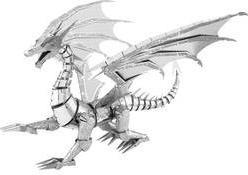 BS Metal Earth Iconx Silver Dragon 502820