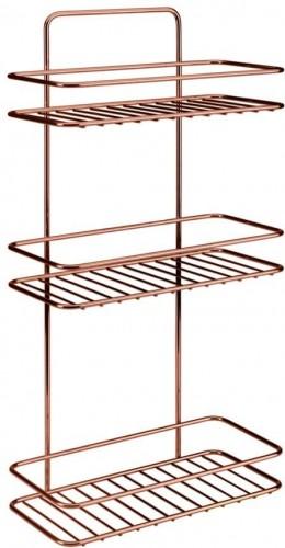Kúpeľňová polička s troma poschodiami Metaltex Copper