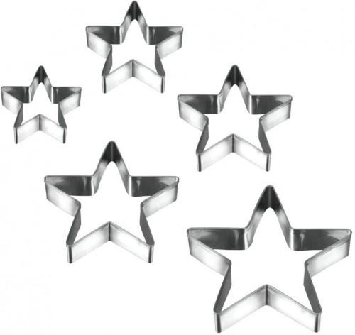 Sada 5 vykrajovadiel v tvare hviezd Metaltex Cookie Cutters