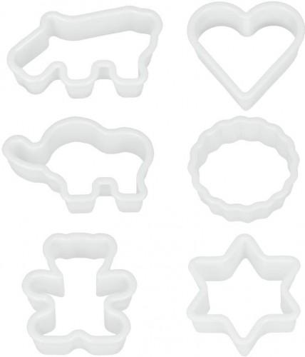 Sada 6 plastových vykrajovadiel Metaltex Cookie Cutters