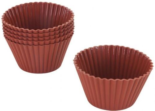 Sada 6 silikónových košíčkov na muffiny Metaltex, ø 7 cm