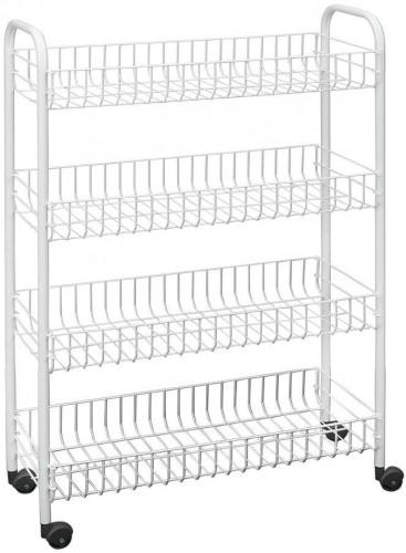 Štvorposchodový pojazdný stojan do kúpeľne Metaltex Laundry, 23 × 84 cm