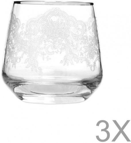 Sada 3 pohárov Mezzo Lily, 345 ml